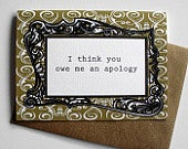 An Apology is a Nicety