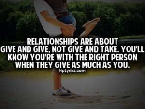 Healthy Relationships Are Not Give and Take